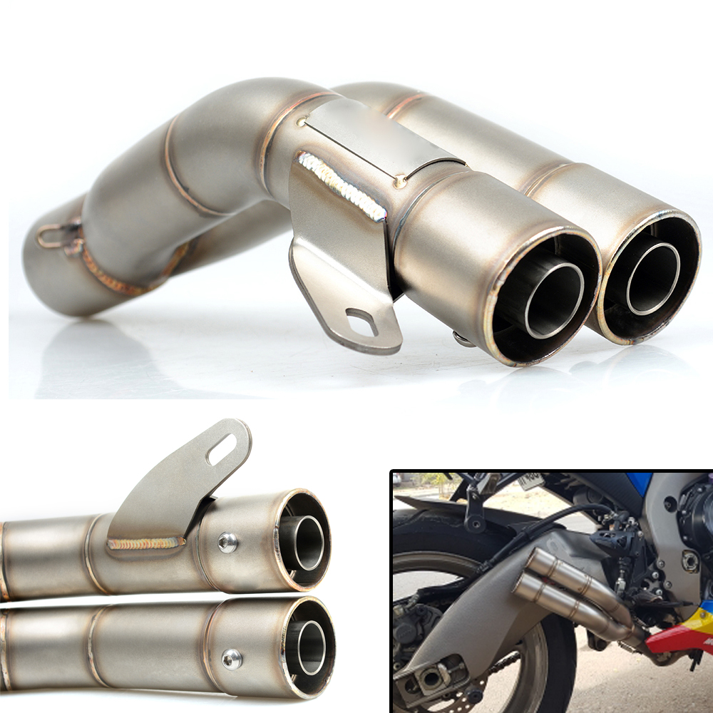 Universal Escape Motorcycle Motorcross Scooter Exhaust Pipe Muffler For Yamaha YZF R1 R3 R6 R15 R125 2006-2010 2006 2007 2008 motorcycle aluminum cooler radiator for yamaha fz6 fz6n fz6 n fz6s 2006 2007 2008 2009 2010