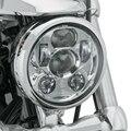 "DOT SAE Emark aprobado Chrome 5.75 ""pulgadas Ronda 45 W Hi/Lo Haz 5 3/4"" LED Proyector Faros Para Harley Davidson"