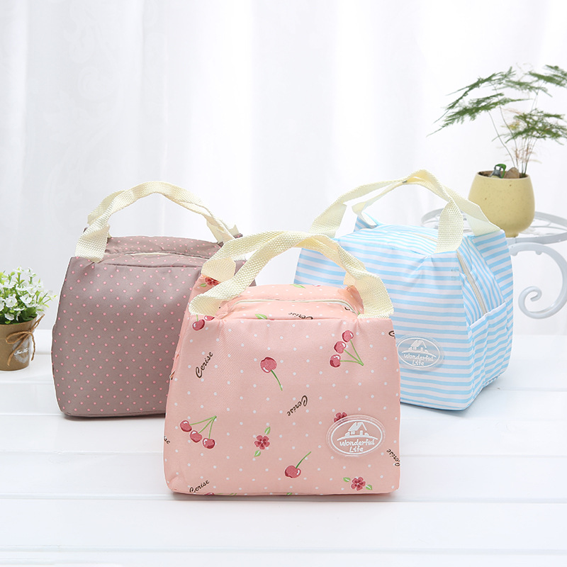 New Fashion Portable Insulated Canvas lunch Bag Thermal Food Picnic Lunch Bags for Women kids Men Cooler Lunch Box Bag aosbos portable cooler lunch box bag tote insulated canvas lunch bag thermal food picnic bento lunch bags for women kids men