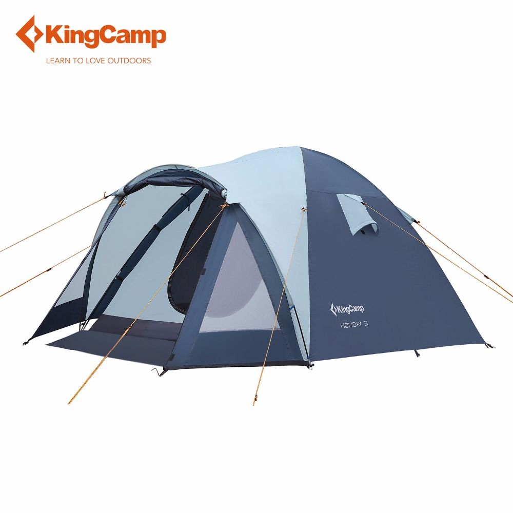 KingCamp Outdoor  Large 3 - 4 Person Tent Tourist Tent Camping Family Tent for Outdoor Recreation Automatic Ultralight 995g camping inner tent ultralight 3 4 person outdoor 20d nylon sides silicon coating rodless pyramid large tent campin 3 season
