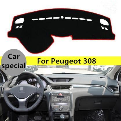 Для Пежо 308 стикер приборной панели автомобиля Избегайте свет площадку инструмент Крышка Платформа Циновка наклейка автомобиль аксессуары для интерьера пакет один