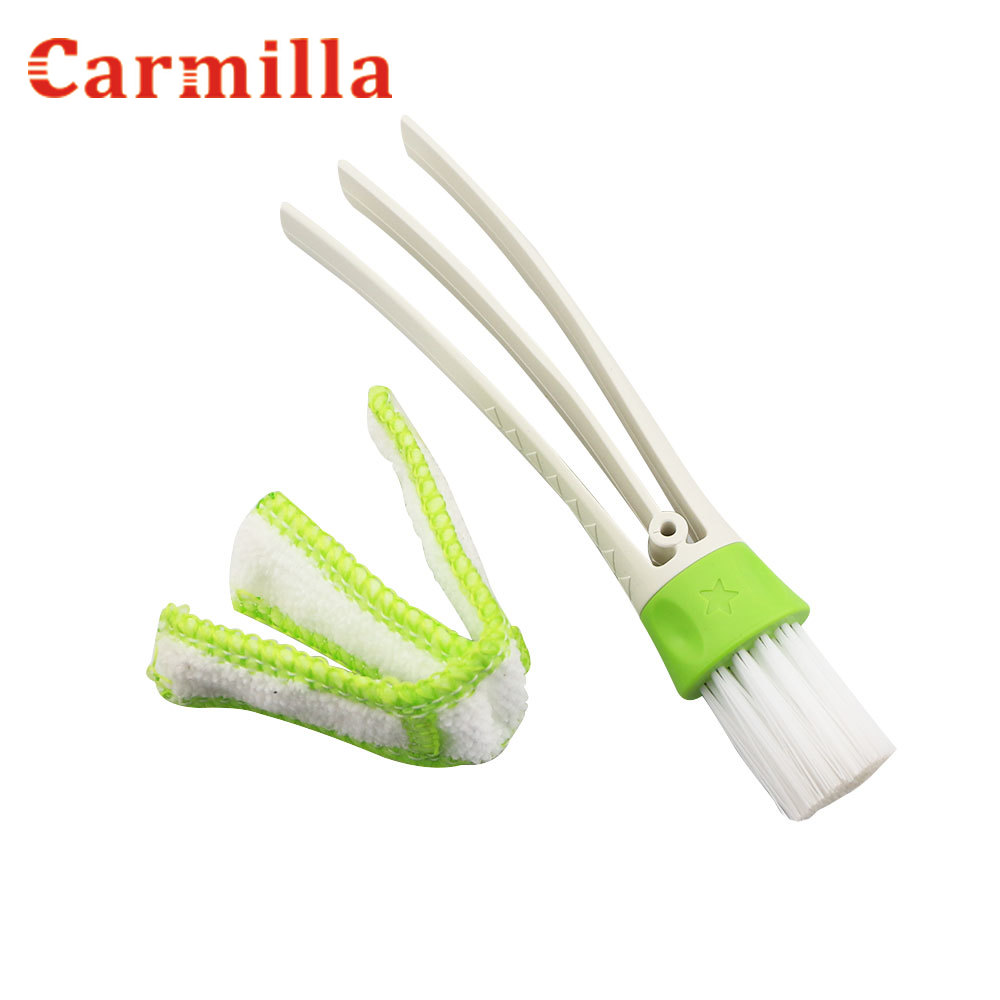 Portable Double Ended Car AC Vent Slit Cleaner Brush Dusting Blind Keyboard Cleaning for Jeep Compass Renegade Cherokee Wrangler(China)