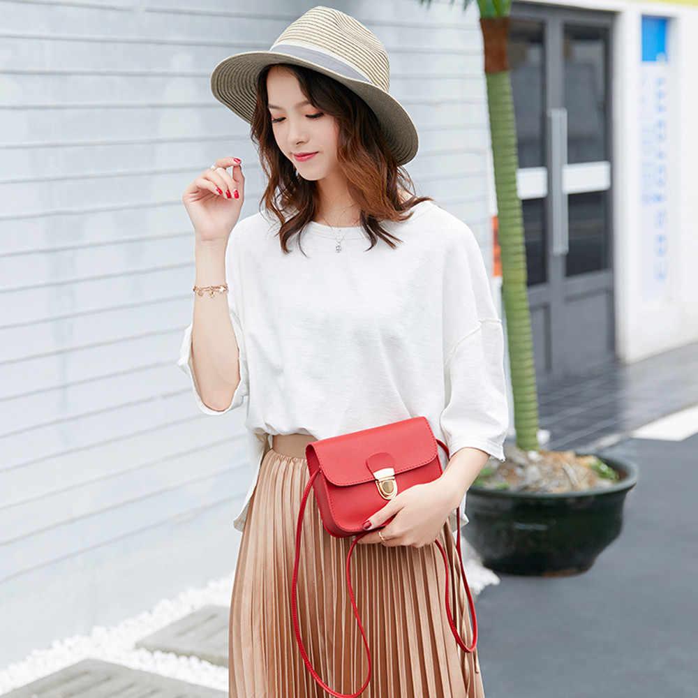 Women Shoulder Bag Fashion Solid Color Cover Lock Crossbody Phone Clutch Bag purses and handbags bolsa feminina transversal