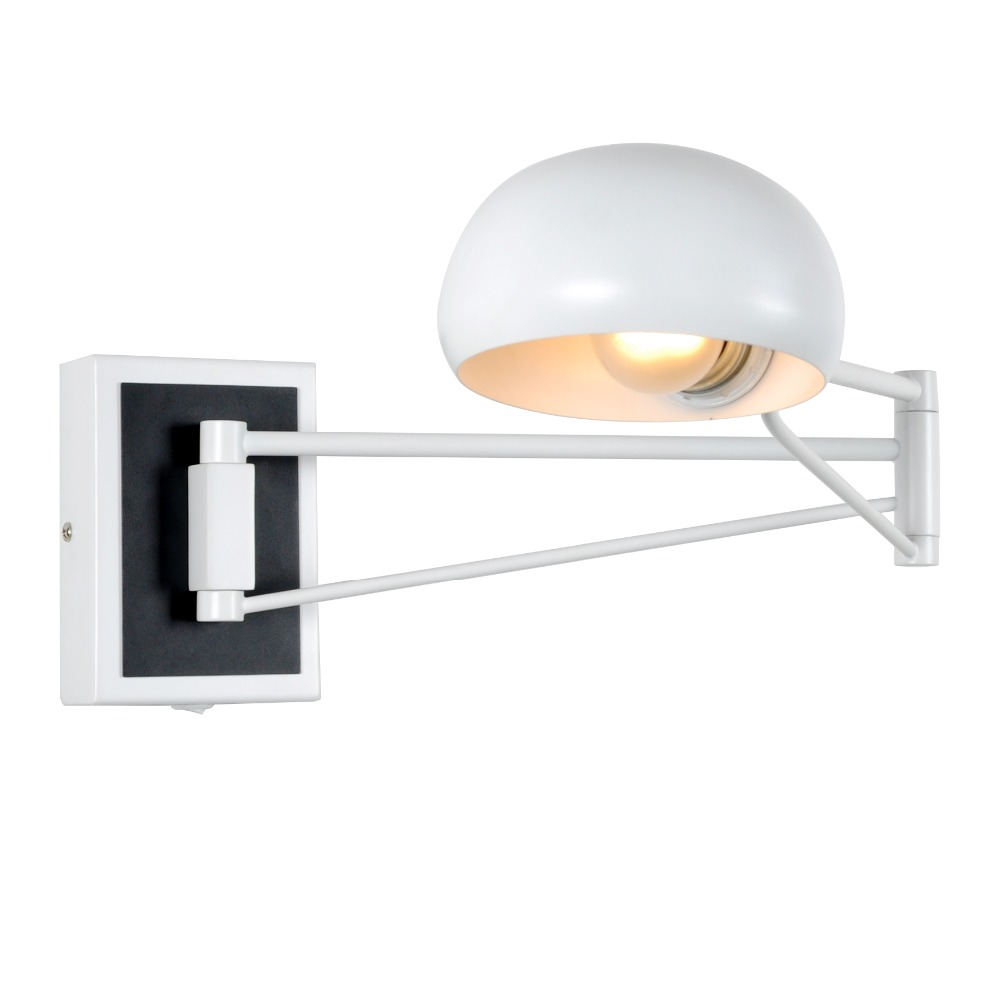 Wall Sconce Plug In Black Swing Arm Wall Lamps Light Bedroom
