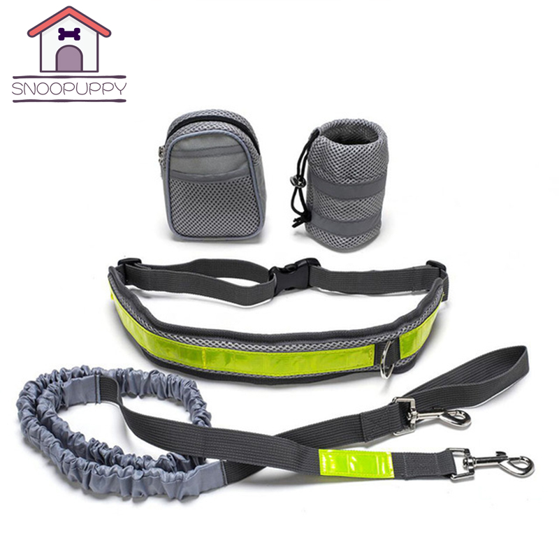 Pets Dogs Harness Set Outdoor Sport Collars Leashes Harness With Reflective For Dogs Training Running Pet Accessories PY0024