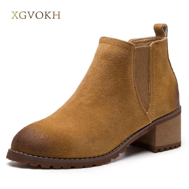 Women Classics Chelsea Boots Cow Leather Shoes Fashion Autumn Winter xgvokh brand Solid Fringe Black Ladies shoes Ankle boot цена и фото