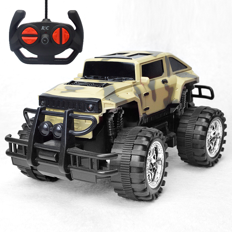 Motors Drive High Speed SUV RC Car 4CH Electric Speed RC Racing Bigfoot Buggy Radio Control Car Model Toy For Boy 1 10 rc car high speed racing car 2 4g subaru 4 wheel drive radio control sport drift racing car model electronic toy