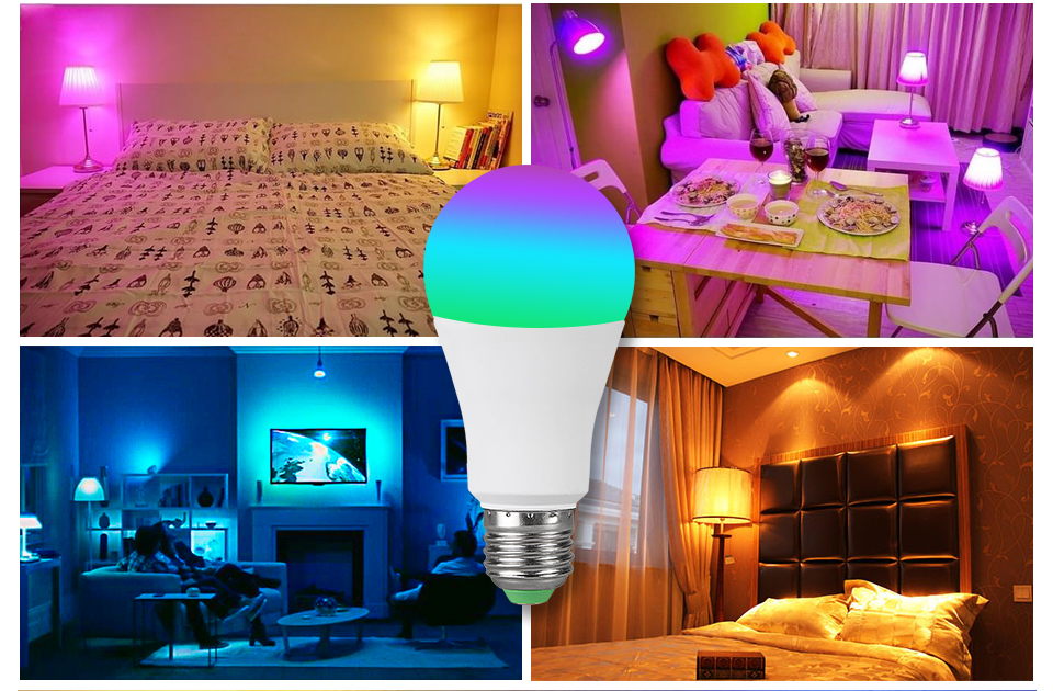 15W 20W 85-265V  RGBW LED Light Bulb Music Control 20 Modes Apply to IOS Android (15)