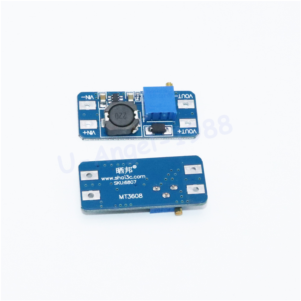 Wholesale 1pcs DC DC step up converter boost 2A power supply module IN 2V- 24V to OUT 5V-28V adjustable regulator board Dropship 1pcs 1500w 30a dc dc cc cv boost converter step up power supply charger adjustable dc dc booster adapter 10 60v to 12 90v module