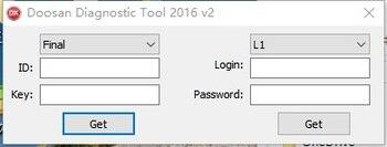 Doosan Diagnostic Tool DDT SCR+DPF+G2 DCU+G2 ECU software package 2020+Keygen