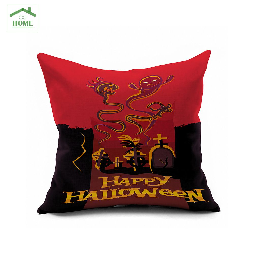 2016 Behome Halloween Night Haunted Creative Personality Does Not Give Candy To Make Trouble Patterned Cotton Cushions 45*45cm
