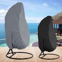 Black/Grey Wicker Swing Seat Cover Swing Patio Garden Weave Hanging Chair Seat Cover Anti UV Waterproof Home Hanging Organizer