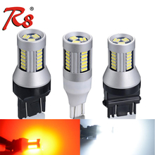 R8 2Pcs Car T20 7440 7443 LED Bulbs T15 W16W 1156 S25 1157 3156 3157 For Brake Reverse Tail Light Turn Signal 12V 24V Trucks