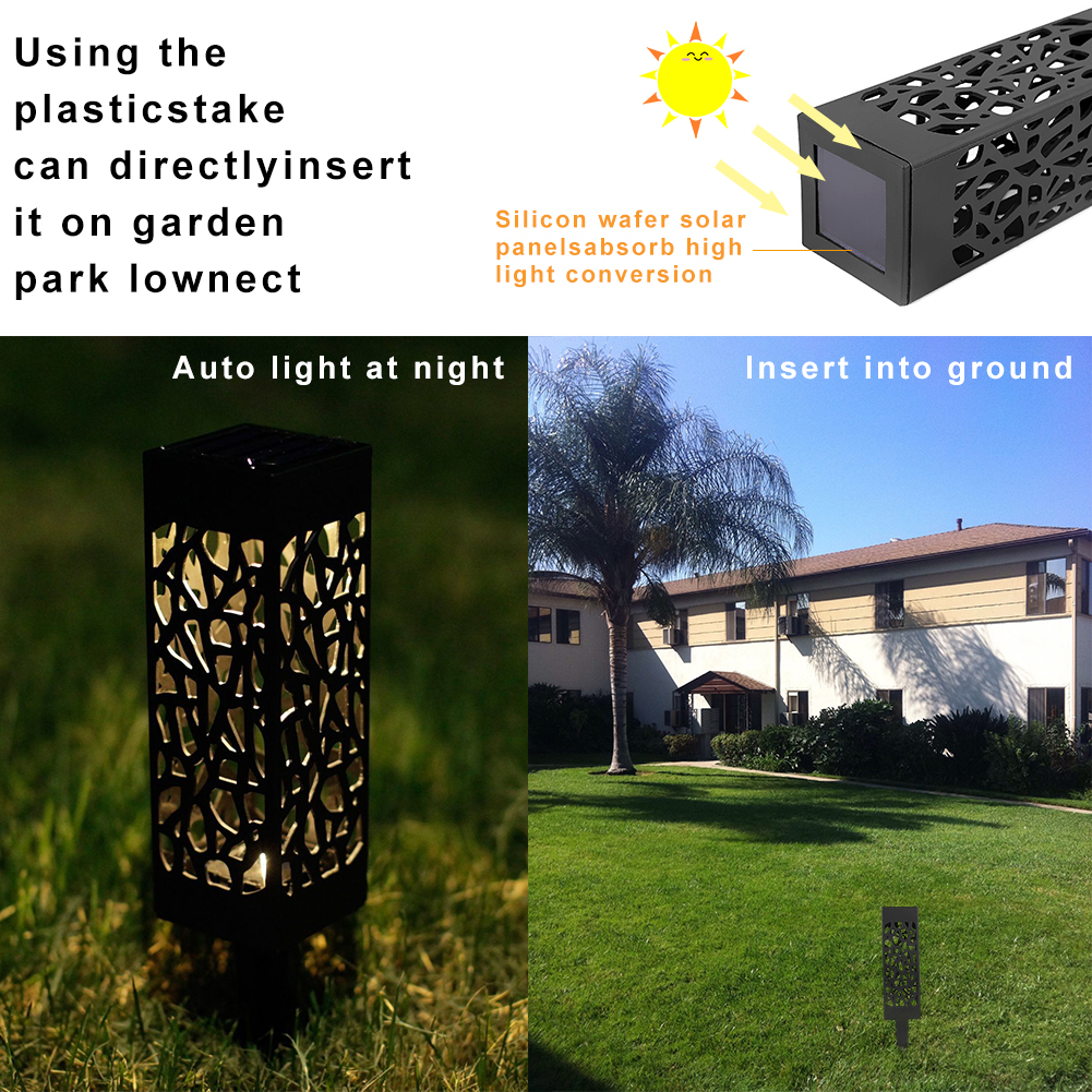 68 pces exterior wateproof solar powered luzes do jardim do diodo emissor de luz