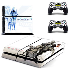 Metal gear solid Skin Sticker Cover for Sony PS4 PlayStation 4 Console and 2 controller diamond dogs skins