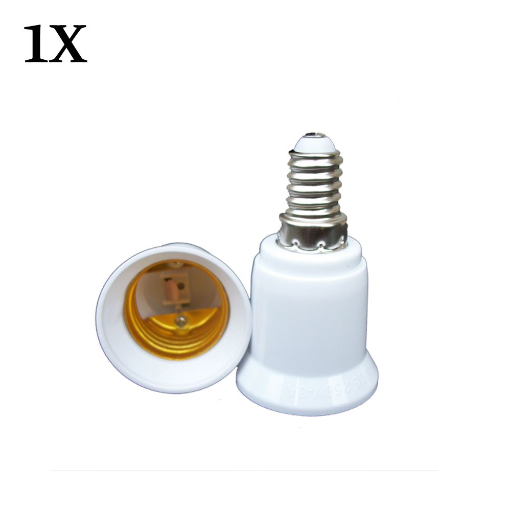 E14 Male Plug To E27 Female Socket Base LED Light Lamp Bulb Adapter Converter