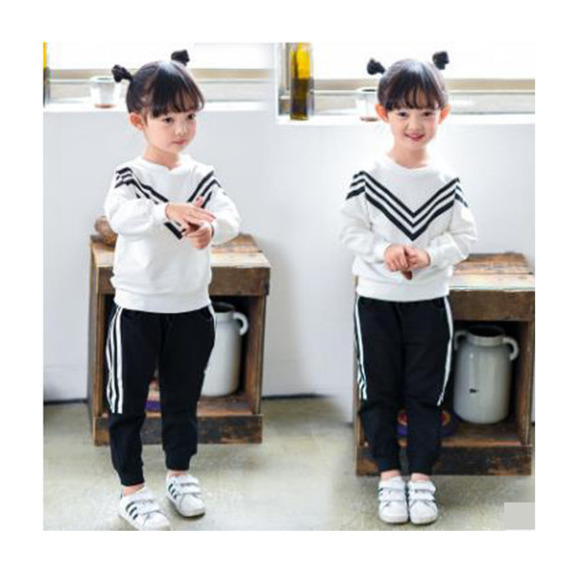 High quality children's clothing set girl sports suit long sleeve T-shirt + pants 2pcs 3-8 years baby fashion sports suit cotton free shipping children clothing spring girl three dimensional embroidery 100% cotton suit long sleeve t shirt pants