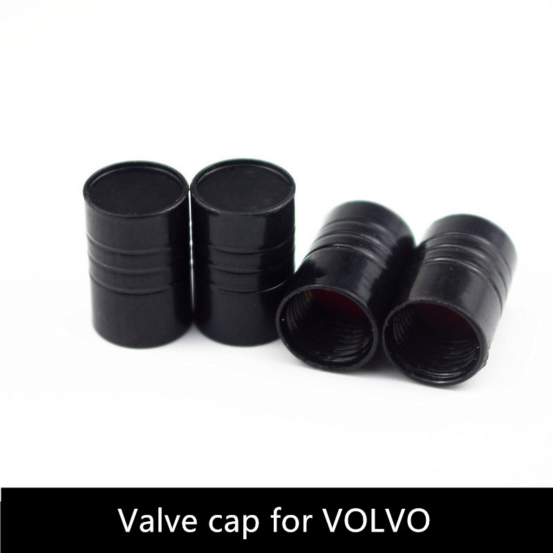 4pcs Car Wheel Tire Valves Tyre Air Caps case for <font><b>volvo</b></font> s40 xc90 xc60 s60 V70 Car Styling car accessories Motorcycle Automobiles image