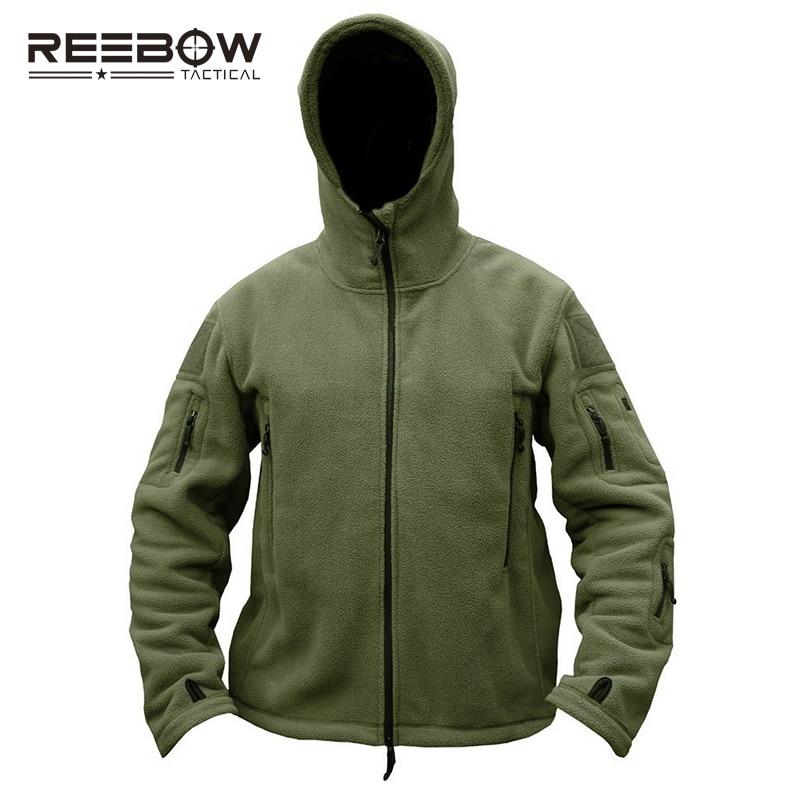 REEBOW TACTICAL Lelaki Outdoor Hiking Winter Fleece Hooded Jacket - Pakaian sukan dan aksesori - Foto 2