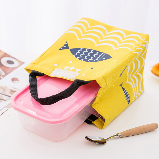 Fish Print Waterproof Oxford Lunch Bag 5