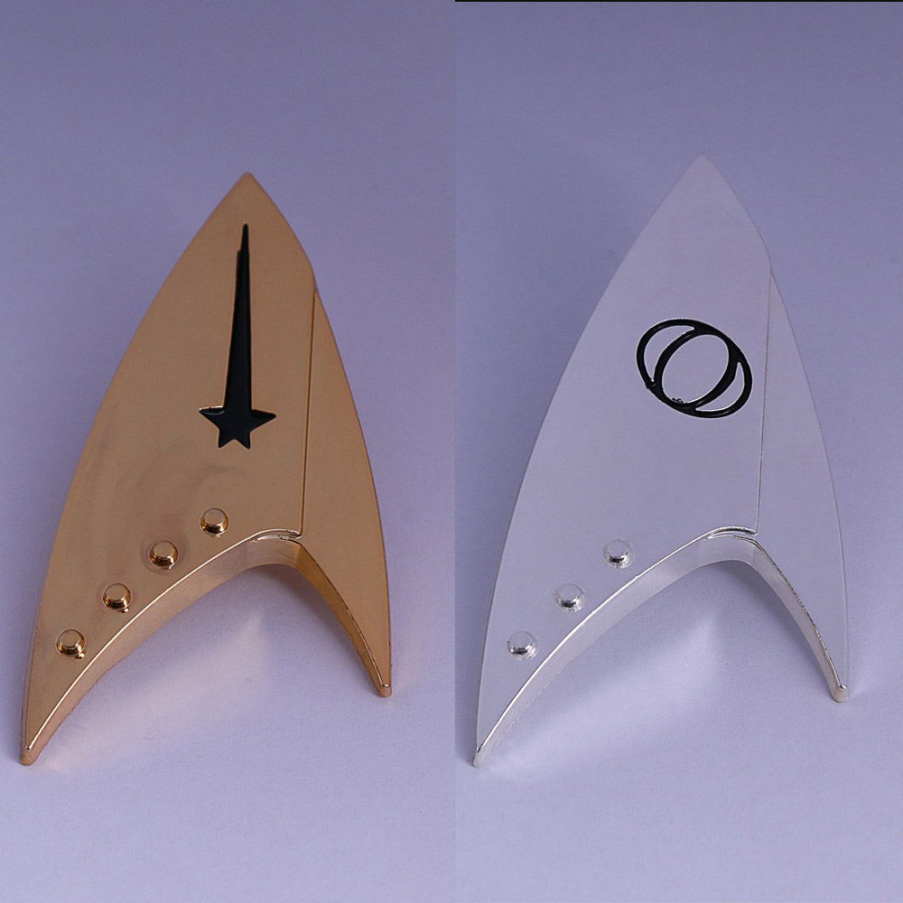Discovery Captain Badge Star Trek Command Badge Insignia Science Badge Starfleet Brooches Metal Cosplay Prop