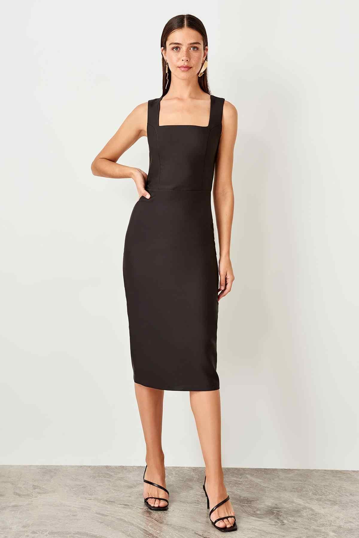 d1deaa13cd Trendyol Gray Halter Dress TPRSS19BB0288 - AliExpress