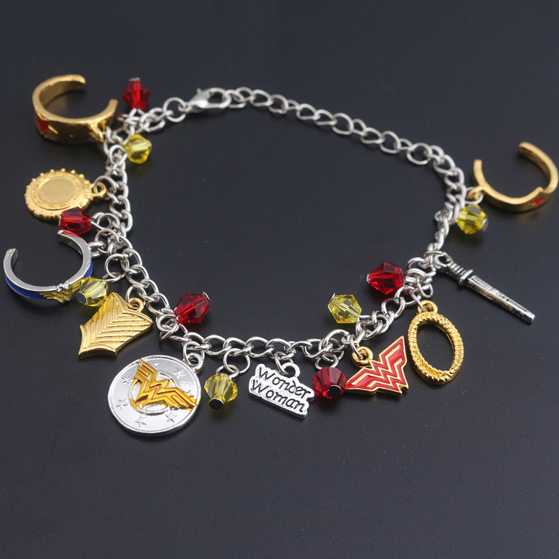 2017 fashion jewelry wonder woman charm bracelet factory. Black Bedroom Furniture Sets. Home Design Ideas