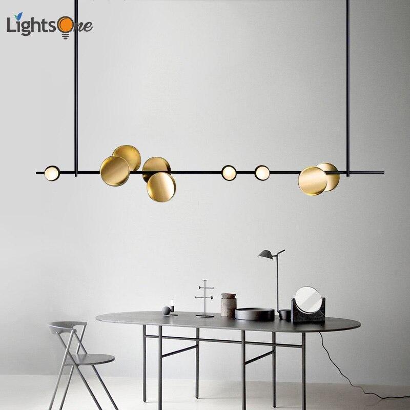 Nordic art lighting bar pendant lamp beauty salon lighting creative Hong Kong style luxury strip pendant