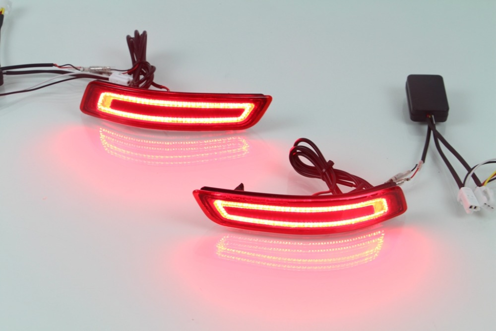 New arrival led rear bumper light brake light reflector running light for toyota altis corolla 2014 novel design top quality new halogen fog light lamp with wires and button for toyota corolla 2014 altis