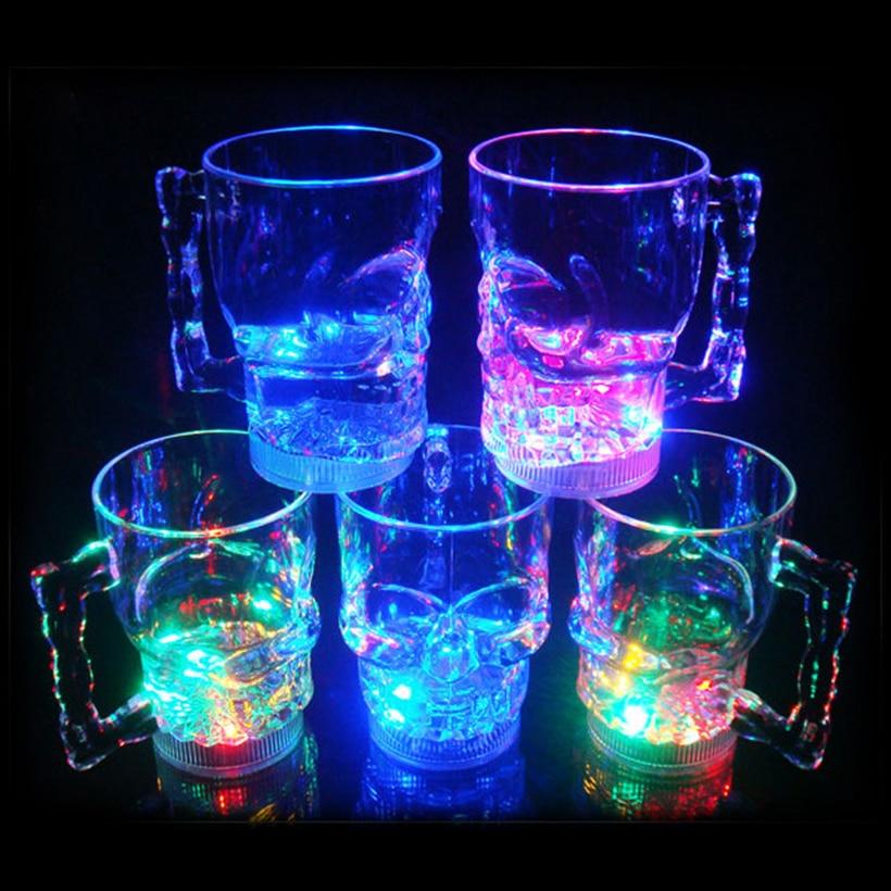 <font><b>Skull</b></font> <font><b>Head</b></font> Vodka Whiskey Shot <font><b>Cup</b></font> <font><b>LED</b></font> <font><b>Flashing</b></font> Light Inductive Colorful <font><b>Beer</b></font> <font><b>Skull</b></font> Crossbones <font><b>Cup</b></font> Whisky Thermocup <font><b>Mug</b></font>
