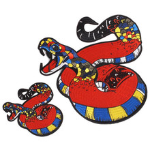 Patches for clothing T shirt Women 308mm snake Embroidery patch T-shirt Womens fashion Tops Shirt Femmer Lady Clothes