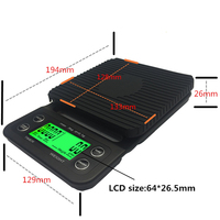 Multifunction 3kg 0 1g Drip Coffee Scale With Timer Electronic Digital Kitchen Scale New Design High