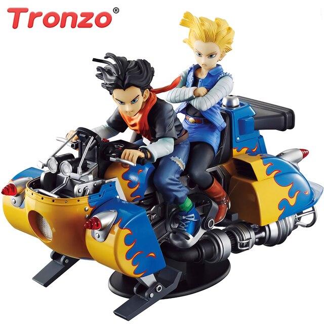MH Tronzo Original Bandai Dragon Ball Z Desktop McCOY 17 04 Android No.19 No. 18 Lapis Lazuli Figura de Ação DO PVC modelo Brinquedos Jouet DBZ