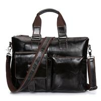 Men messenger bags genuine leather bag men briefcase designer handbags high quality famous brand business men bag JIE 0124