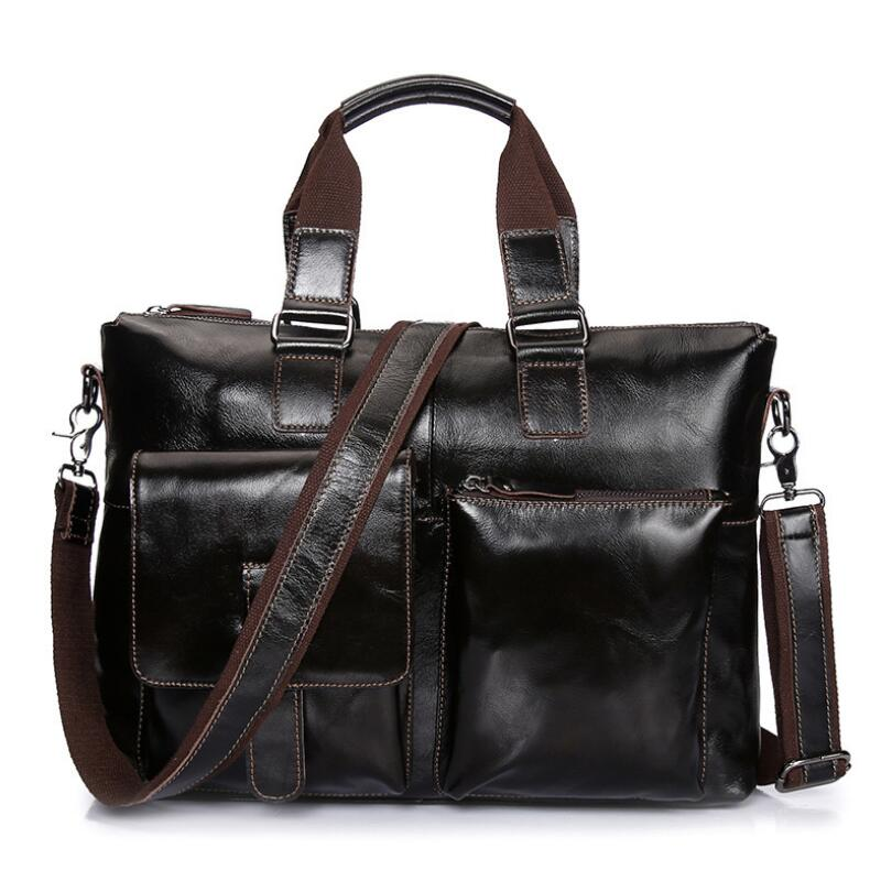 Men messenger bags genuine leather bag men briefcase designer handbags high quality famous brand business men bag JIE-0124 padieoe men s genuine leather briefcase famous brand business cowhide leather men messenger bag casual handbags shoulder bags