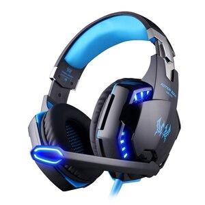 Image 2 - KOTION каждая игровая гарнитура Casque глубокий бас игровые стереонаушники с микрофоном светодиодный свет для PS4 ноутбука PC Gamer