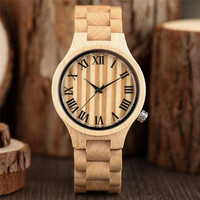 Luxury Wood Watches Men Watch Vintage Roman Number Clock Men Women Casual Quartz Wooden Wrist Watch