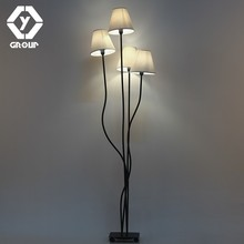 OYGROUP 4 Heads Floor Lamp with Beige Lampshade Contemporary Stylish Elegance Floor lighting for Foyer Bedroom Hotel Office(China)