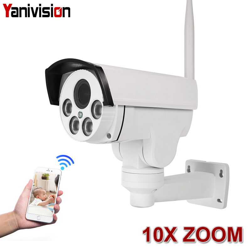 5MP 10X Optical Zoom Wifi Street IP Camera PTZ Bullet Outdoor 5X 2MP 1080p Wireless IR Night Onvif SD Card Audio CCTV IP ONVIF
