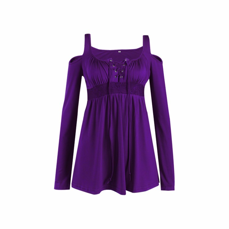 HTB1F.qNPpXXXXXtXVXXq6xXFXXXd - Women Spring Long Sleeve Off Shoulder V-neck T Shirt