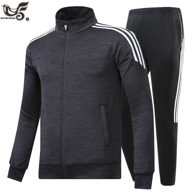New Brand Men's Set Spring Autumn Men Sportswear 2 Piece Set Sporting Suit Jacket+Pant Sweatsuit Male Tracksuit Size M-5XL