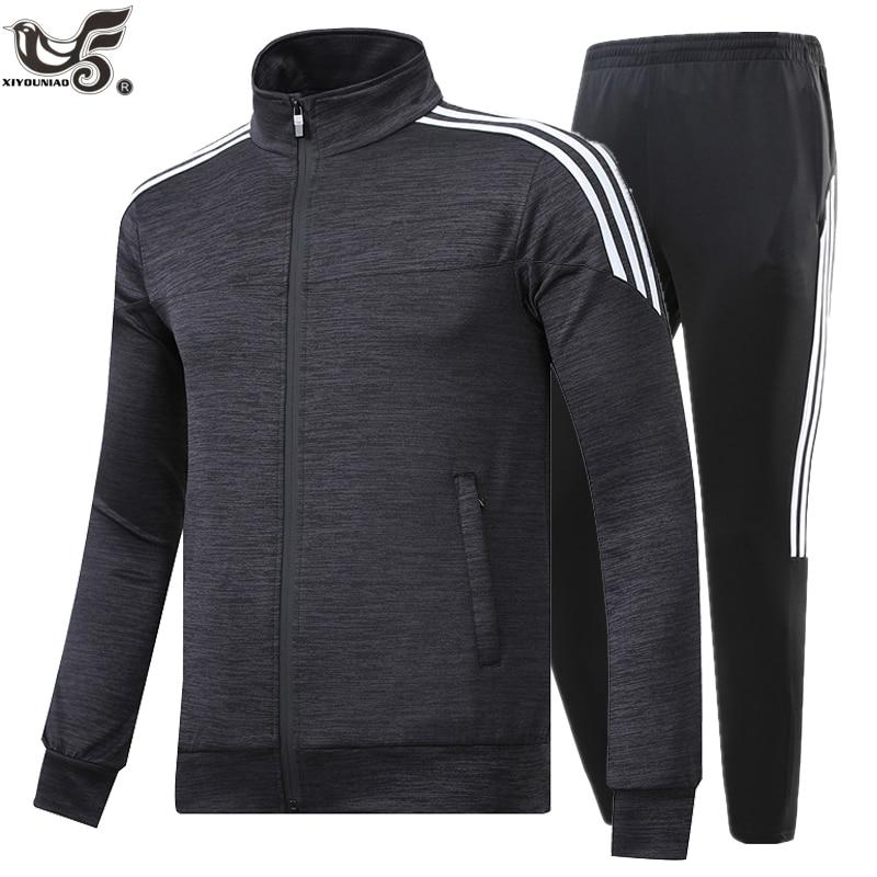 New Brand Men's Set Spring Autumn Men Sportswear 2 Piece Set Sporting Suit Jacket+Pant Sweatsuit Male Tracksuit Size M-5XL