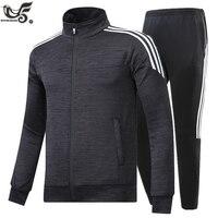 New Brand Men's Set Spring Autumn Men Sportswear 2 Piece Set Sporting Suit Jacket+Pant Sweatsuit Male Tracksuit Size M 5XL