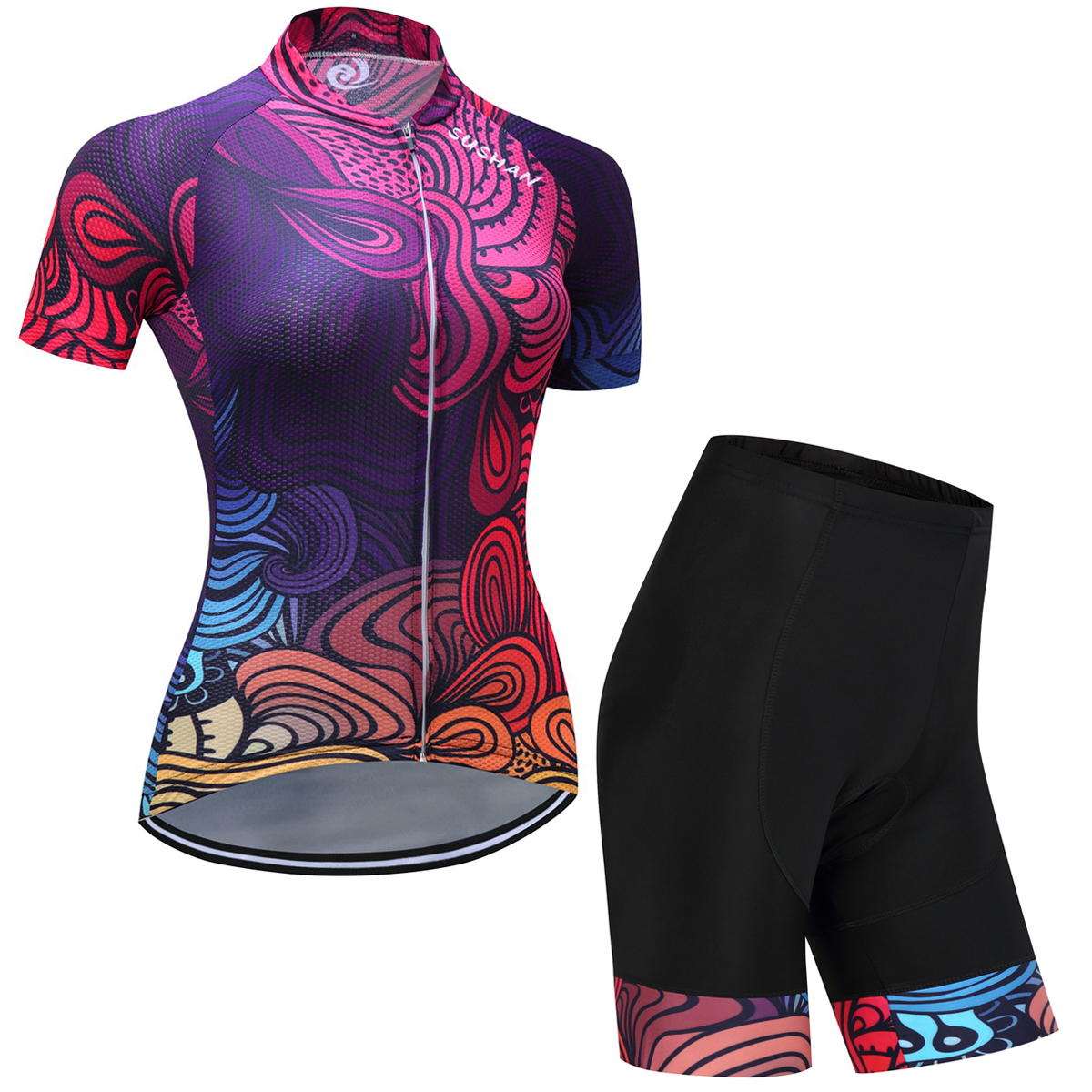 NW Summer Women MTB Bike Cycling Clothing Breathable Mountian Bicycle Clothes Ropa Ciclismo Quick-Dry Cycling Jersey Sets