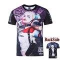 Харли Квинн Suicide Squad Тенниска Фильм Джокер футболки 3D Хип-Хоп футболки Уличной Sudaderas Mujer Camisetas