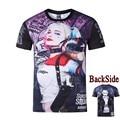 Harley Quinn Comando Suicida Camiseta Película Joker camisetas 3D Hip Hop camisetas Streetwear Sudaderas Mujer Camisetas