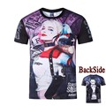 Harley Quinn Suicide Squad T Shirt Movie Joker T shirts  3D Hip Hop T shirts Streetwear Sudaderas Mujer Camisetas