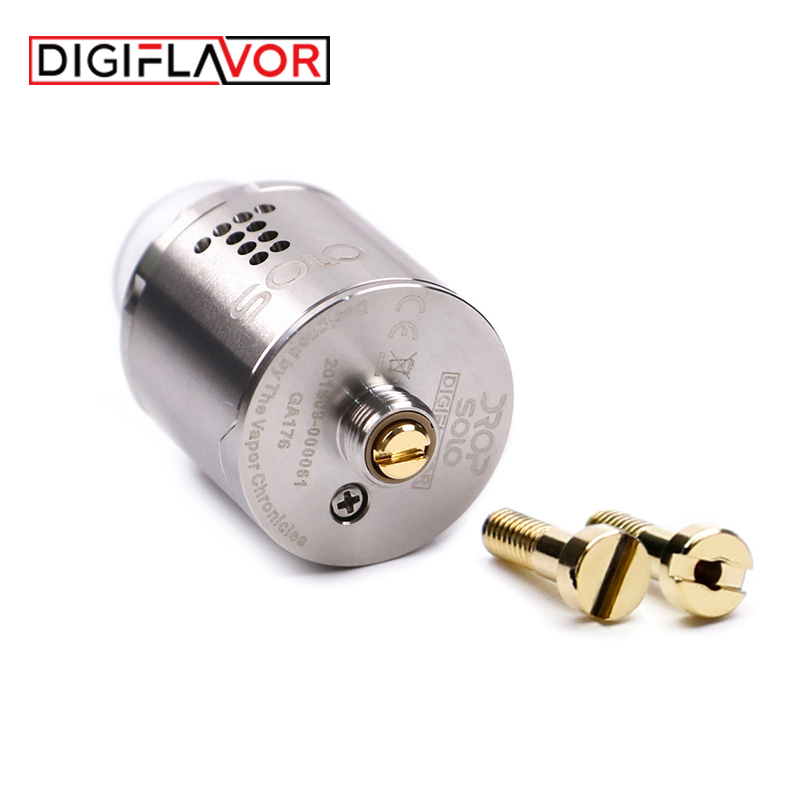 Digiaroma Drop Solo RDA Vape réservoir simple bobine 22mm goutte RDA cigarette électronique atomiseur Standard 510/soulevé 510 broches BF Squonk - 3