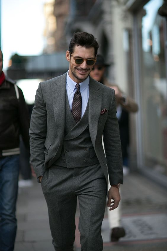latest coat pant designs italian style gray tweed groom