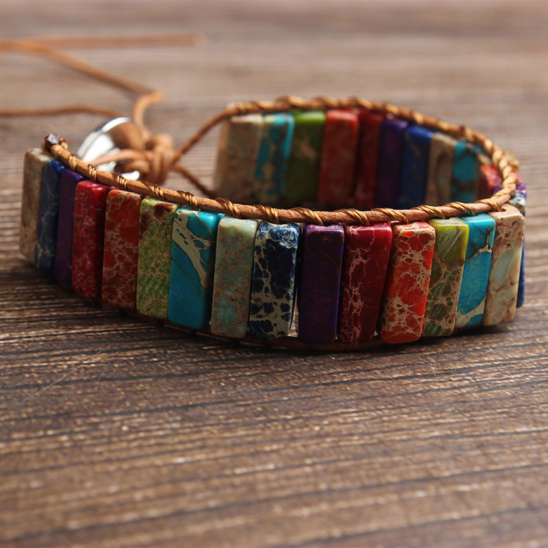 LanLi 4x13mm The adjustable imperial stone seven chakra energy weaves a hand string Fashion accessories for attractive women in Beads from Jewelry Accessories
